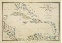 WYLD, J. -  Map of the West India & Bahama Islands..