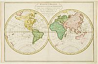 HARREVELT,E.van/ CHANGUION,D.J. -  Mappe-Monde ou Description du Globe Terrestre.