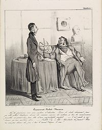 DAUMIER, H. -  Pensionnat Robert-Macaire. Mr le professeur (Plate 4)