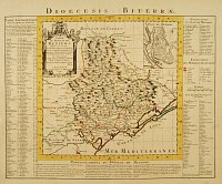 COVENS, J. / MORTIER, C. -  Carte du Diocese de Beziers Dress�e. . .