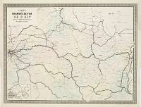 NAPOL�ON CHAIX. -  Carte des Chemins de Fer de l