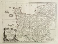 SANTINI, P. / REMONDINI, M. -  Carte du Gouvernement de Normandie avec celui du Maine et Perche.