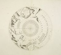 CORONELLI, V. M. -  Two polar calottes from a globe.