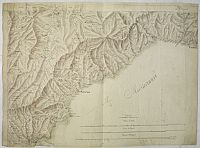 ANONYMOUS. -  [Manuscript map of the Ligurian coast fom Pietra to Genova].