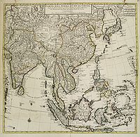 COVENS, J. / MORTIER, C. -  Carte des Indes et de la Chine Dress�e . . .