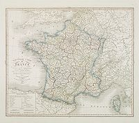 HERISSON -  Nouvelle carte de France . . .