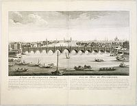 CHEREAU, J. / AVELINE, P.A. -  A view of Westminster bridge.  Vue du pont Westminster.