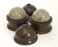 MALBY -  A pair of English 3-inch globes.
