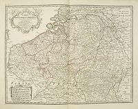 DELISLE, G ./ BUACHE, Ph. / DEZAUCHE, J. -  Carte Des Pays Bas Catholiques Dress�e. . .