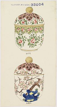 FOURMAINTRAUX, G. -  Design for two bowls.