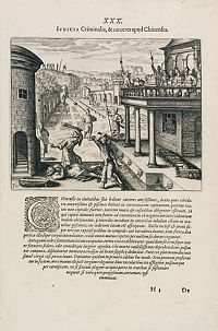 DE BRY, Th. -  Punishment of a criminal in China