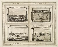 AA, P. van der. -  Brest, Profil de St. Malo, Autre vue de St. Malo en Bretagne.
