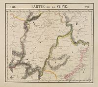 VANDERMAELEN, Ph. -  Partie de la Chine N°87. (Covers Jiangxi, Fujian and parts of Zhejiang, Guangdong, Hunan and Hubei.)