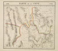 VANDERMAELEN, Ph. -  Partie de la Chine N°85. (Covers northeastern India, northern Burma and parts of Tibet, Sichuan and Yunnan.)