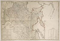 SCHRAMBLE, F.A. -  [No title : Wall-map size map of Russia]
