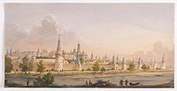 RUSSIAN SCHOOL -  (View of the Moscow Kremlin, seen from the Moskva River in the south).