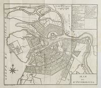 COXE. - Plan de St. Petersbourg.