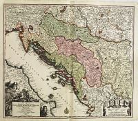 SEUTTER, M. - Nova et accurata.. Dalmatiae, Croatiae, Sclavoniae, Bosniae.