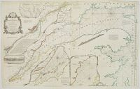 JEFFERYS, T. - An Exact Chart of the River St. Laurence.. Quebec.