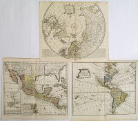 BOWEN, E. - A New General Map of America / A New.. the North Pole.. / A New.. Mexico or New Spain.. /