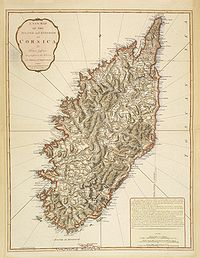 JEFFERYS, Thomas. -  A New Map of the Island and Kingdom of Corsica, by Thomas Jefferys…