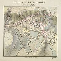 GALLAIN, E. - Plan Topographique de Saint-Cyr lev� en 1823.