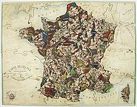PUZZLE. - Carte de France instructive et amusante divis�e en Quatre-vingt-six D�partements.