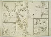 HELL / ADMIRALTY CHART. - The Island of Corsica surveyed by M. Hell, Capitaine de Vaisseau.