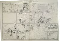 ADMIRALTY CHART. - Mediterranean Ports and Anchorages in Corsica from the latest French charts.