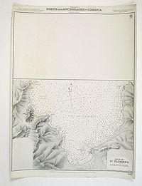 ADMIRALTY CHART. - Mediterranean Ports and Anchorages in Corsica Soundings in Fathoms.