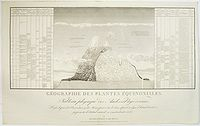 LANGLOIS. - Gographie des Plantes Equinoxiales. Tableau physique des Andes et pays voisins.