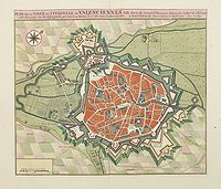 COVENS, J. / MORTIER, C. - Plan de la ville et citadelle de Valenciennes.