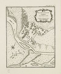 BELLIN, J.N. - Plan de la Ville de Corte.