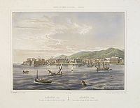 BAUDOY, F. - Ajaccio, (Corse) Vue prise du milieu du golfe, vis--vis le quai.