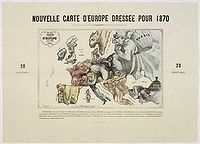 HADOL. - Carte Drolatique D'Europe Pour 1870 Dress�e Par Hadol.