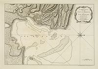 JEFFERYS, T. - An Authentic Plan of the Town and Harbour of Cap Francois in the Isle of St. Domingo.