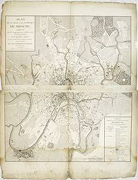 CHANLAIRE / PICQUET. - Plan de la Ville et des faubourgs de Moscou, indiquant les parties de cette Ville, que les Russes ont incendies lors de lentre de S.M. lEmpereur Napolon, le 14 septembre 1812.