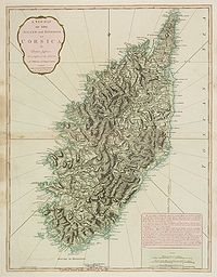 JEFFERYS, Thomas. - A New Map of the Island and Kingdom of Corsica, by Thomas Jefferys�