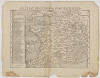 MUNSTER, S. - Galliae Regionis Nova Descriptio.