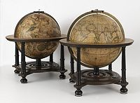 VALK, G. / L. -  Two fine 12 inch (31cm.) diameter celestial and terrestrial globes.