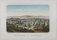 DEROY, Isidore-Laurent. - Vue de San-Francisco - Vista de San-Francisco.