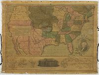 THRALL, Willis. - Map of the United States. Compiled from the Most Authentic Sources.
