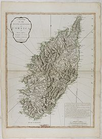 JEFFERYS, Thomas. -  A New Map of the Island and Kingdom of Corsica.
