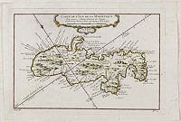 BELLIN, J.N. - Carte de L'Isle de la Martinique.