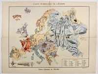 CR�T�, B. - Carte Symbolique de L'Europe. / Europe en 1914.
